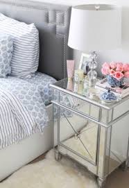 Mirrored bedside furniture Champagne Mirror Bedside Tables Foter Mirrored Bedside Table Ideas On Foter