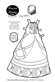 a beautiful victorian printable paper doll bustle dress based on a dress from 1870 free