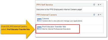 Internal Transfer Human Resources Professional Educator Internal Transfer Page