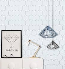Grey and White Wallpaper White Hexagon ...