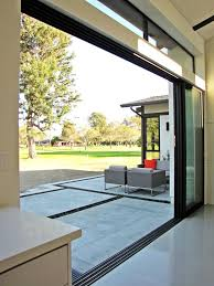 fleetwood sliding doors entry midcentury with modern contemporary table lamps