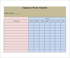 blank work schedule employee work schedule template blank work schedule template 4
