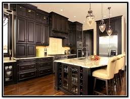 dark stained kitchen cabinets.  Dark Dark Wood Stain Kitchen Cabinets  Home Design Ideas And Stained W