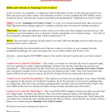Amazing Cover Letter Example Resume Cover Letter Template Amazing ...