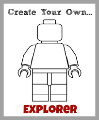 Lego New Year Printable Lego Figure Coloring Pages Create Your Own
