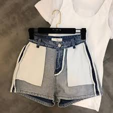 jeans woman direct selling cotton medium mid 2019 spring new pocket decoration anti wear trend denim shorts women womens