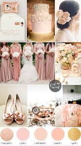 peach wedding colors. Blush rose gold sophisticated and beautiful elegant colours