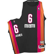 lebron miami heat jersey. adidas miami heat #6 lebron james authentic black aba hardwood classic nba jersey lebron e