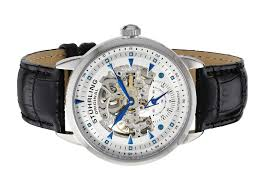 stuhrling original men s 133 33152 executive automatic skeleton stuhrling original men s 133 33152 executive automatic skeleton silver dial watch