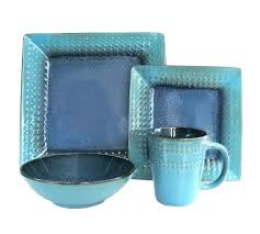 blue glass dinnerware set blue square dinnerware sets alternate images square blue glass dinnerware sets blue