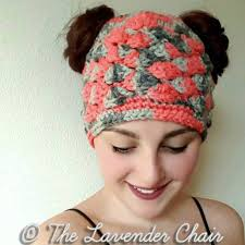 Free Crochet Pattern For Messy Bun Hat Best Messy Bun Hat Pattern Collection Red Heart