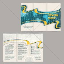 Royalty Free Vector 14449117 Tri Fold Brochure Template With Scribbled World Map And Orange