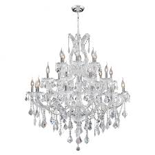 maria theresa collection 28 light chrome finish and clear crystal chandelier 38 d x 42