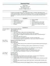 Professional Nanny Resume Sample Nanny Resume Examples Basic Nanny Resume Example Nanny Housekeeper