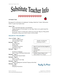 Agreeable Resume Descriptions For Teachers For Your Substitute