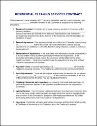 sample cleaning contract agreement 10 best images of house cleaning service agreement cleaning