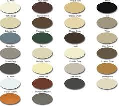 Senox Color Chart Gutter Services Gutters Installation In Nashville Tn