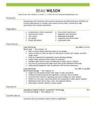 Service Tech Resume Automotive Service Technician Resume Nguonhangthoitrang Net