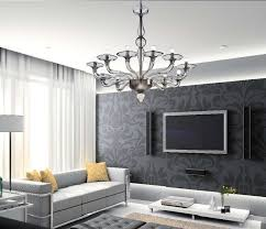 chandeliers in living room