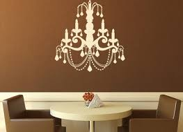 chandelier candle old fashioned wall stickers wall art decal transfers
