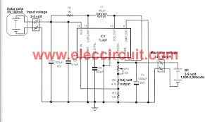make solar aa battery charger circuit by tl497 eleccircuit make solar aa battery charger by tl497