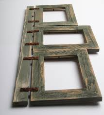 Homemade Rustic Picture Frames Rustic Western Wood Picture Frame 3 Hanging 5x7 Photos Vintage