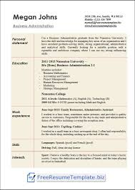 Administration Resume Templates Business Administration Resume Templates Free Resume