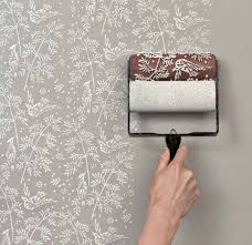 wallpaper paint the paint roller that creates a wallpaper look
