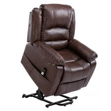 homegear air leather dual motor power lift electric recliner chair with remote brown golf s of america golf s of america
