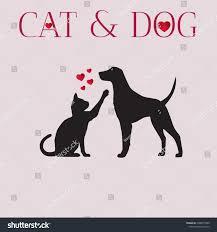 Dog Vector Design Cat Dog Vector Design Stock Vector Royalty Free 1098575969