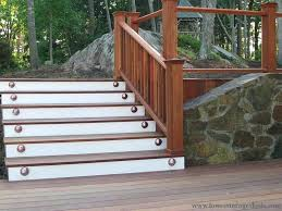 outdoor wooden stairs construction how to build exterior wood steps diy stair railing ideas