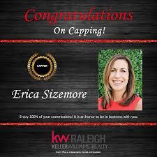 Congratulations Erica Sizemore on... - Keller Williams Raleigh ...