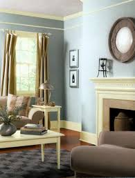 living room decorating with creamy white and grayish blue paint colors