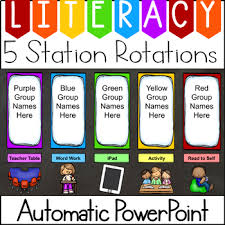 Centers Rotation Chart Worksheets Teaching Resources Tpt