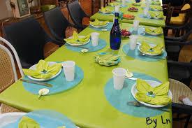 Décoration de table pour l'anniversaire d'un enfant