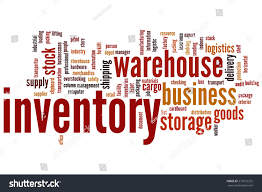 Word Inventory Inventory Concept Word Cloud Background Stock Illustration