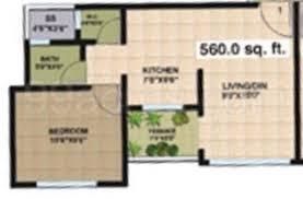Super Area: 560 sq ft, Apartment ...