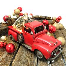 pickup truck with tree figurine