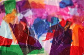 tissue paper bleeding art