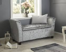 Image Is Loading VelvetWindowSeatSofaBenchStorageStoolChaise Sofa Bench With Storage N83
