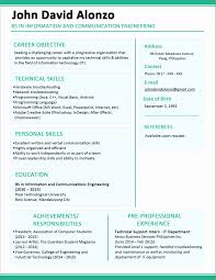 Best Solutions Of Resume Format For A Fresher Unique Alluring