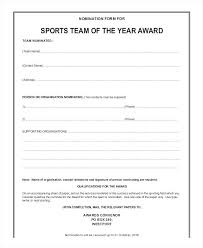 Award Nomination Form Template Letter Of Recognition Employee