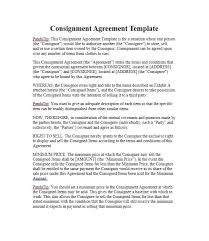 Sale Agreement Forms 40 Best Consignment Agreement Templates Forms Template Lab
