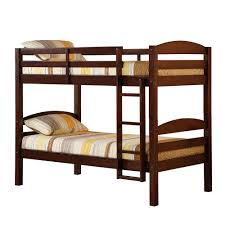 walker edison furniture company ina twin over twin wood bunk bed bwstotes the home depot