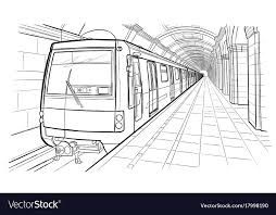 subway train drawing. Perfect Train Intended Subway Train Drawing O