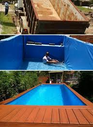 diy above ground pool wish 7 diy swimming ideas and designs from big builds to weekend in addition 3