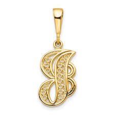 ice carats 14kt yellow gold initial monogram name letter j pendant charm necklace fine jewelry ideal gifts for women gift set from heart