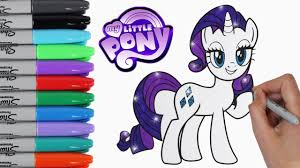 Small Picture My Little Pony Coloring Book Pages Rarity MLP Video for Kids Art