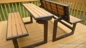 awesome convertable picnic table bench review youtube brown set patio source outdoor