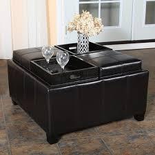 coaster storage ottoman coffee table tray